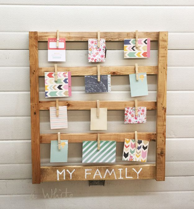 Easy Woodworking Projects - Easy Scrap Wood Photo Display - Cool DIY Wood Projects for Beginners - Easy Project Ideas and Plans for Homemade Gifts and Decor