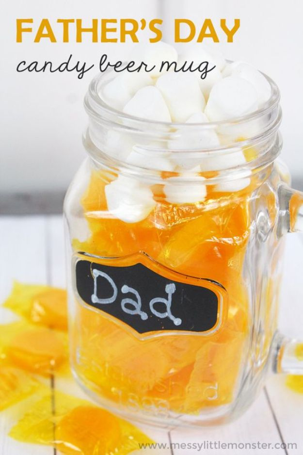 DIY Fathers Day Gifts - Father's Day Candy Beer Mug - Homemade Presents and Gift Ideas for Dad - Cute and Easy Things to Make For Father
