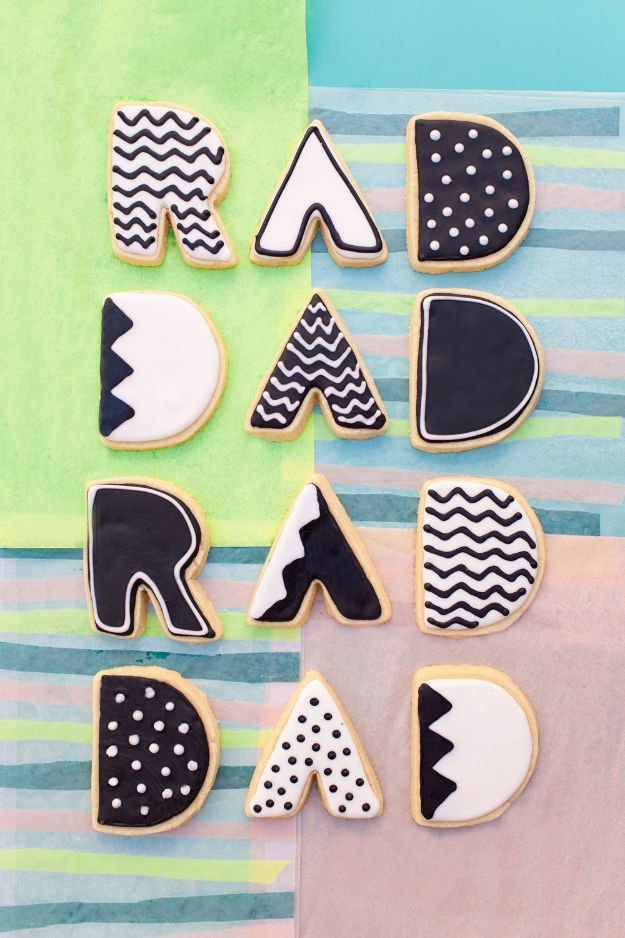 Father's Day CookiesDIY Fathers Day Gifts - Father's Day Cookies - Homemade Presents and Gift Ideas for Dad - Cute and Easy Things to Make For Father