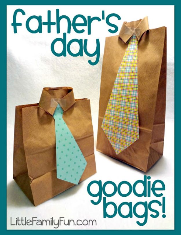 DIY Fathers Day Gifts - Father's Day Goodie Bags - Homemade Presents and Gift Ideas for Dad - Cute and Easy Things to Make For Father