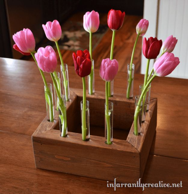 Easy Woodworking Projects - Floral Centerpiece - Cool DIY Wood Projects for Beginners - Easy Project Ideas and Plans for Homemade Gifts and Decor