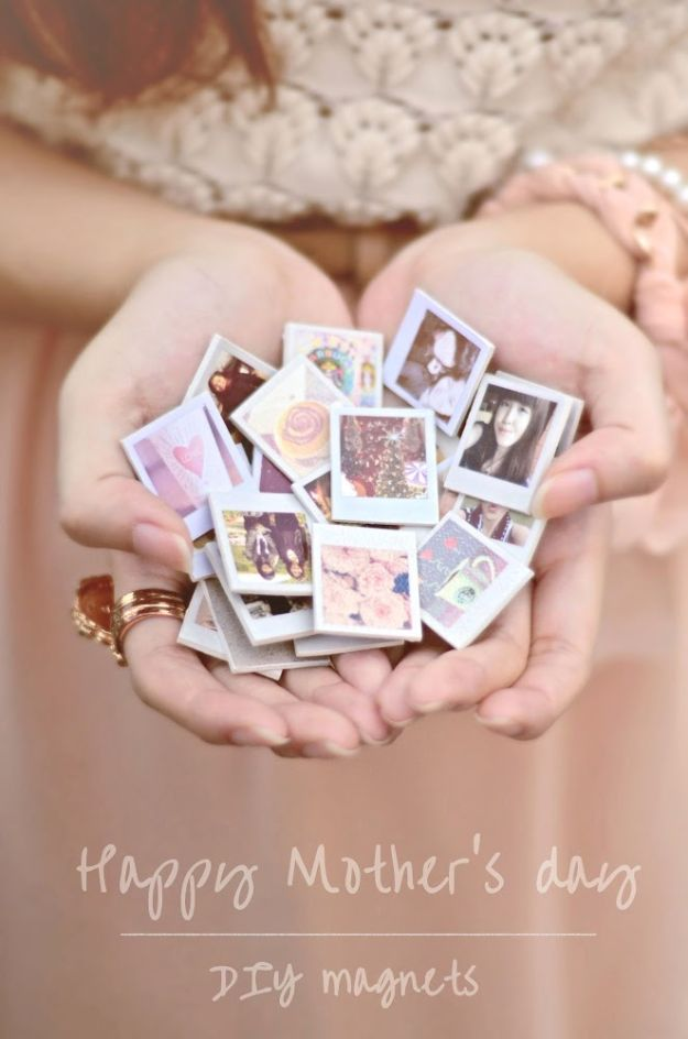 Cheap Mothers Day Gifts - Happy Mother's Day DIY Magnets - Homemade Presents and Gift Ideas for Mom - Cute and Easy Things to Make For Mother