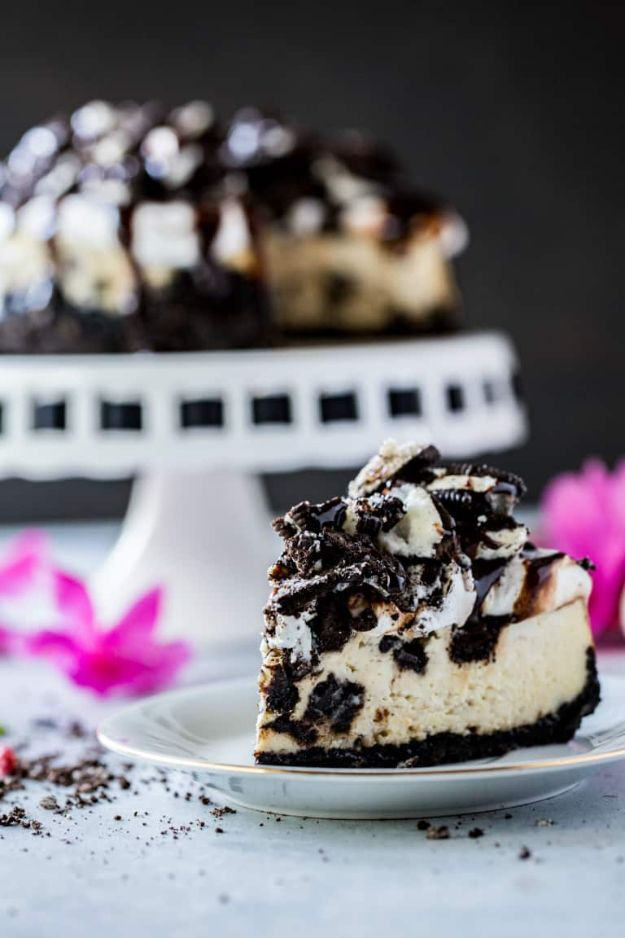 Instant Pot Desserts - Instant Pot Cheesecake with Oreos - Easy Dessert Ideas to Make in Your Instant Pot - Quick Cheesecake, Brownies, Cake - Healthy Idea With Fruit, Gluten Free