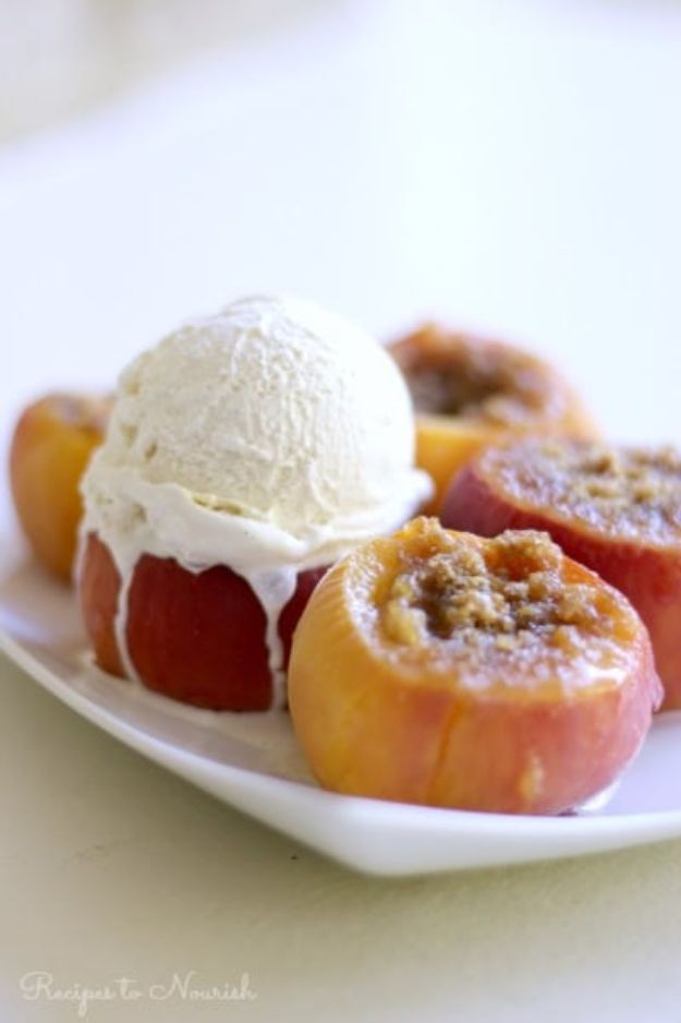 Instant Pot Desserts - Instant Pot Stuffed Peaches - Easy Dessert Ideas to Make in Your Instant Pot - Quick Cheesecake, Brownies, Cake - Healthy Idea With Fruit, Gluten Free