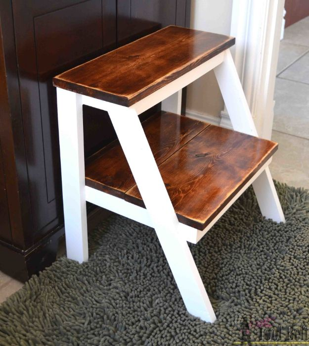 Easy Woodworking Projects - Kid's Step Stool - Cool DIY Wood Projects for Beginners - Easy Project Ideas and Plans for Homemade Gifts and Decor