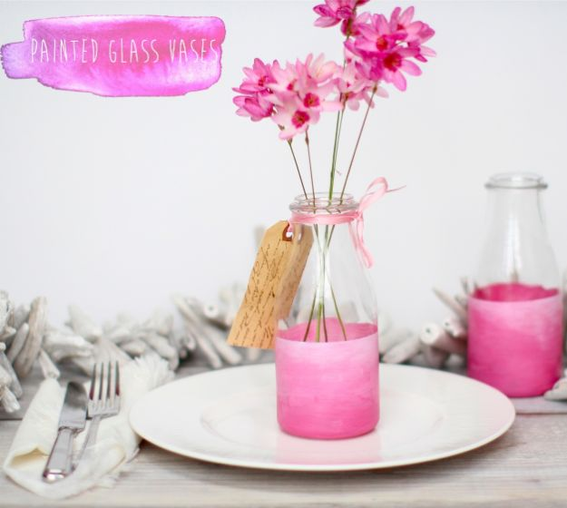 Cheap Mothers Day Gifts - Painted Bottle Vases - Homemade Presents and Gift Ideas for Mom - Cute and Easy Things to Make For Mother