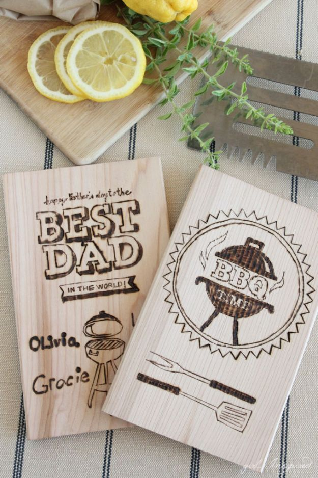 DIY Fathers Day Gifts - Personalized Wood Burning For Dad - Homemade Presents and Gift Ideas for Dad - Cute and Easy Things to Make For Father