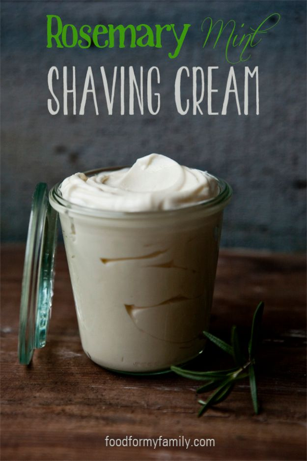 DIY Fathers Day Gifts - Rosemary Mint Shaving Cream - Homemade Presents and Gift Ideas for Dad - Cute and Easy Things to Make For Father