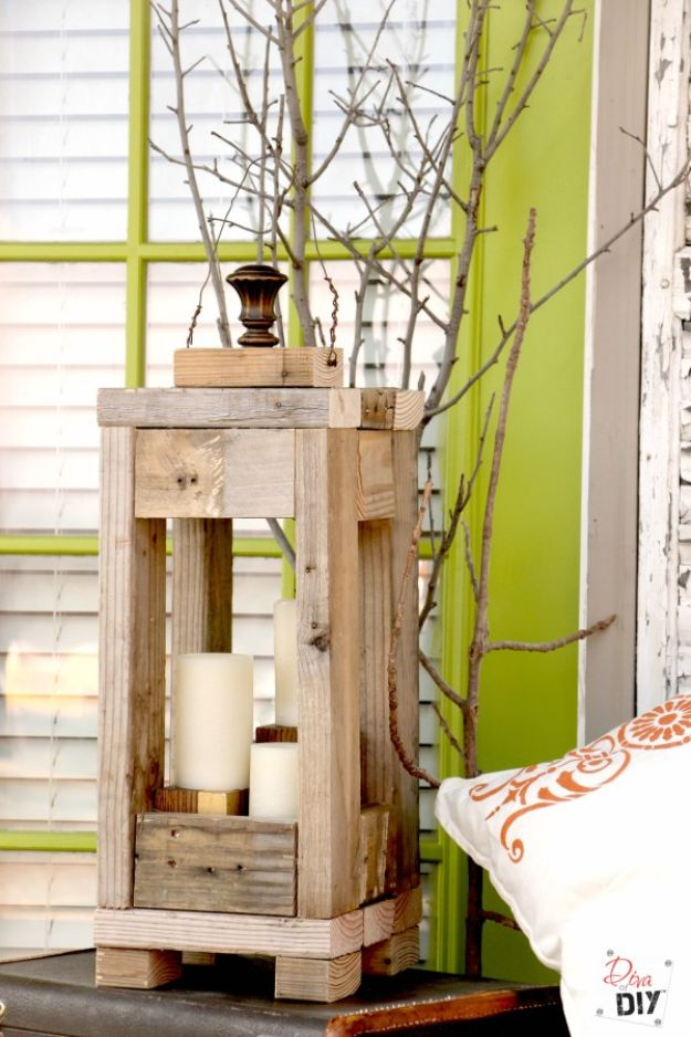 Easy Woodworking Projects - Rustic Lantern - Cool DIY Wood Projects for Beginners - Easy Project Ideas and Plans for Homemade Gifts and Decor