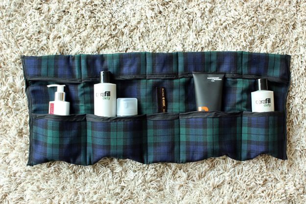 DIY Fathers Day Gifts - Sew a DIY travel toiletries bag - Homemade Presents and Gift Ideas for Dad - Cute and Easy Things to Make For Father