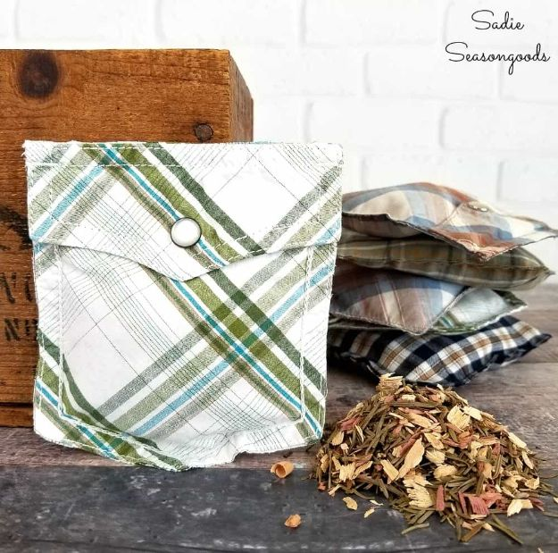 DIY Fathers Day Gifts - Shirt Pocket Sachets - Homemade Presents and Gift Ideas for Dad - Cute and Easy Things to Make For Father