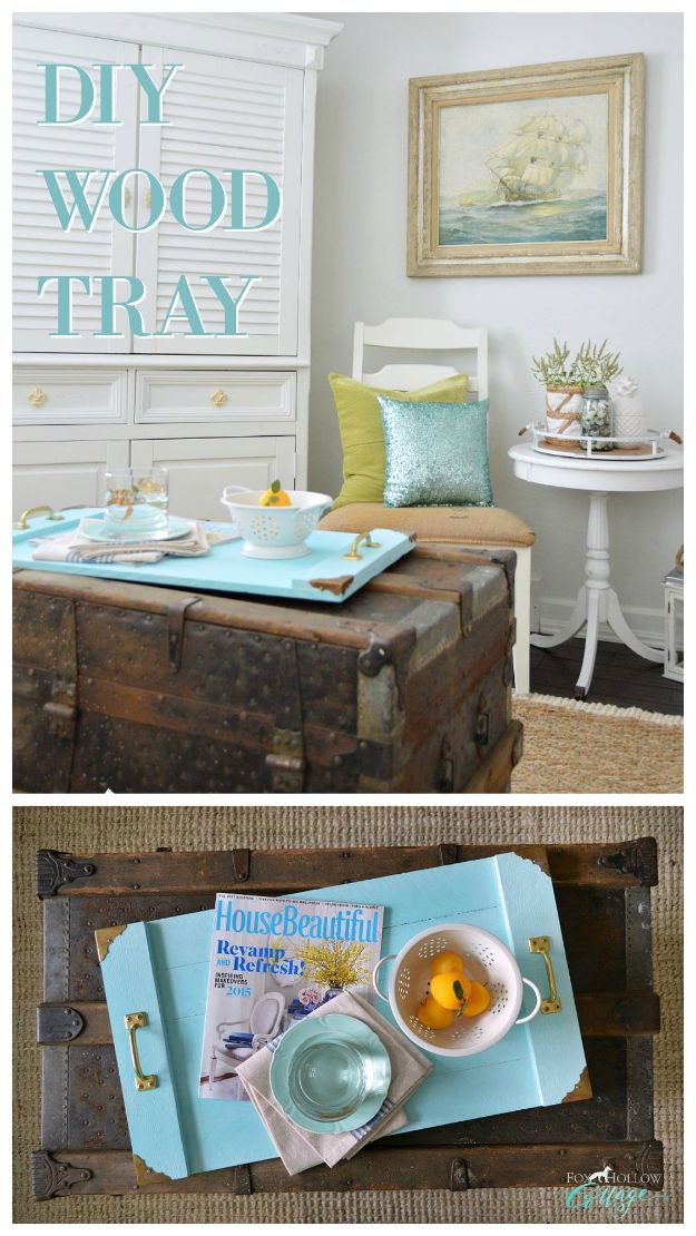 Easy Woodworking Projects - Simple Serving Tray - Cool DIY Wood Projects for Beginners - Easy Project Ideas and Plans for Homemade Gifts and Decor
