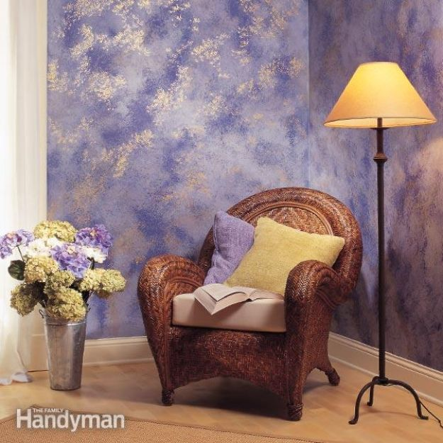 DIY Faux Finishes for Walls - Sponge Paint a Wall- Step by Step Tutorials for Do It Yourself Faux Finish Wall Textures - Rustic, Colour, Tuscan Style, Simple Metallic, Sponge Painting Techniques, Roller and Drag Texture