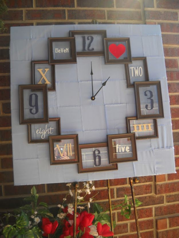 DIY Clocks - Trash to Treasure Clock - Easy and Cheap Home Decor Ideas and Crafts for Wall Clock - Cool Bedroom and Living Room Decor, Farmhouse and Modern