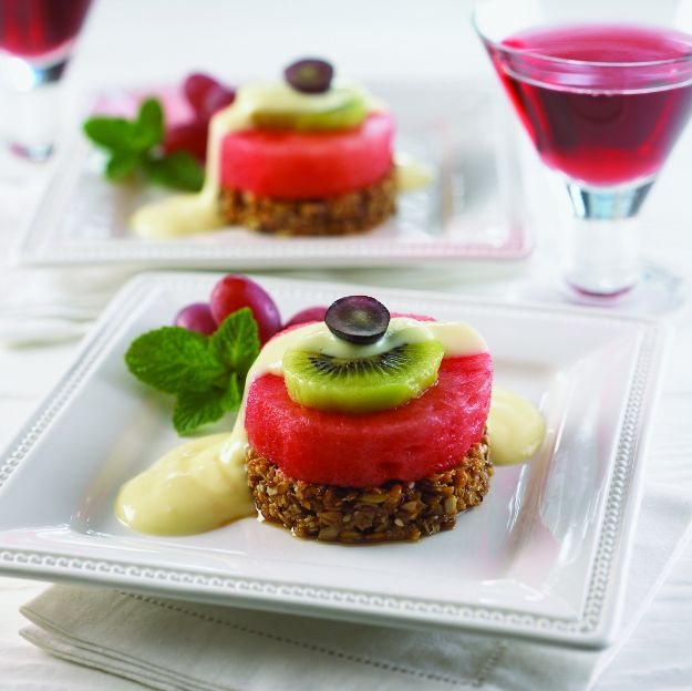 Watermelon Recipes - Watermelon Benedict - Recipe Ideas for Watermelon - Easy and Quick Drinks, Salad, Party Foods, Cake, Margaritas