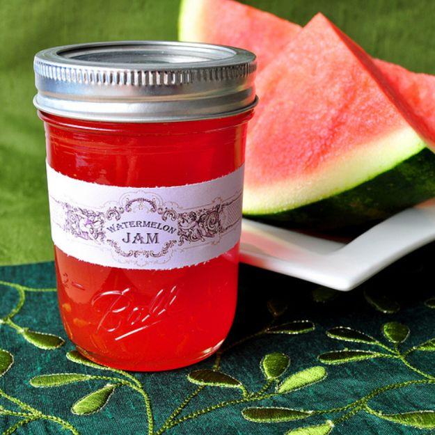 Watermelon Recipes - Watermelon Jam - Recipe Ideas for Watermelon - Easy and Quick Drinks, Salad, Party Foods, Cake, Margaritas