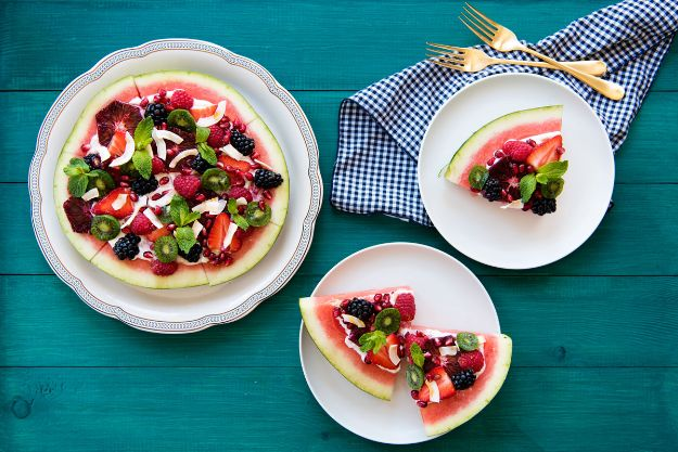 Watermelon Recipes - Watermelon Pizza - Recipe Ideas for Watermelon - Easy and Quick Drinks, Salad, Party Foods, Cake, Margaritas