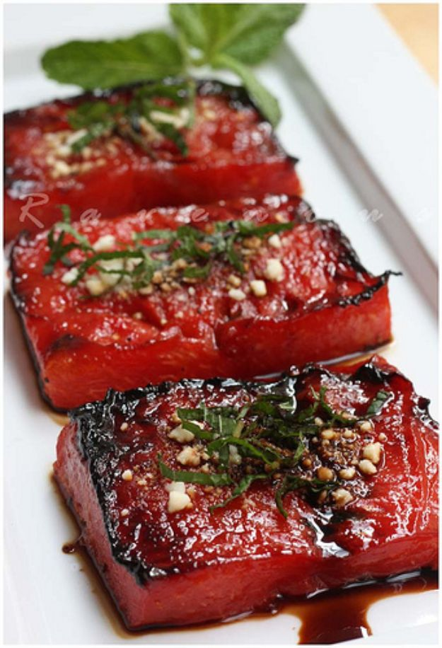 Watermelon Recipes - Watermelon Steak - Recipe Ideas for Watermelon - Easy and Quick Drinks, Salad, Party Foods, Cake, Margaritas