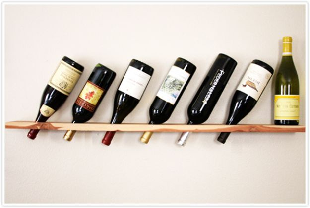 Easy Woodworking Projects - Wood Plank Wine Rack - Cool DIY Wood Projects for Beginners - Easy Project Ideas and Plans for Homemade Gifts and Decor