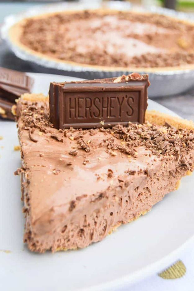 No Bake Desserts | 3 Ingredient No-Bake Hershey Pie - Quick Dessert Ideas and Easy Sweets You Can Make Without Baking - Healthy Cookies and Pie