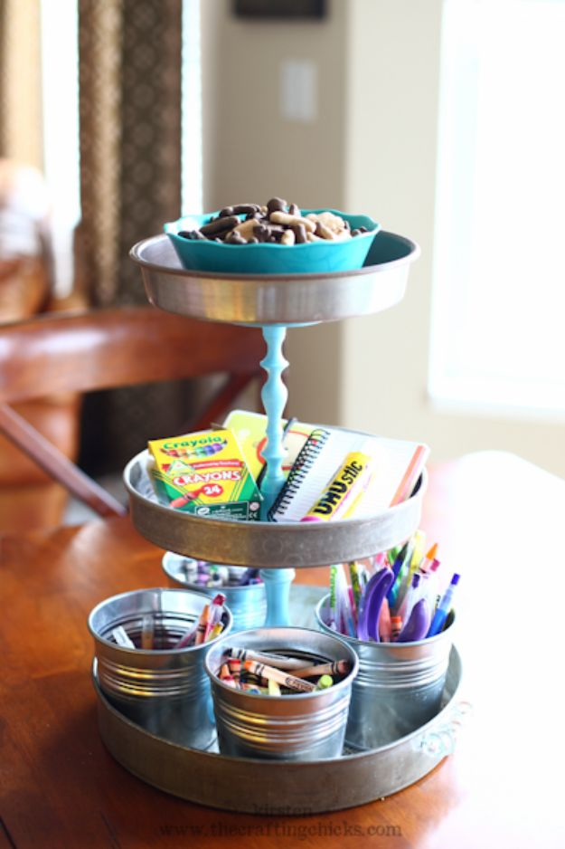 DIY Vanity Trays - 3-Tiered Stand + Spray Paint - Easy Homemade Decor for Bathroom, Bedroom and Vanities - Tray to Store Jewelry and Accessories With These Cool and Easy Crafts