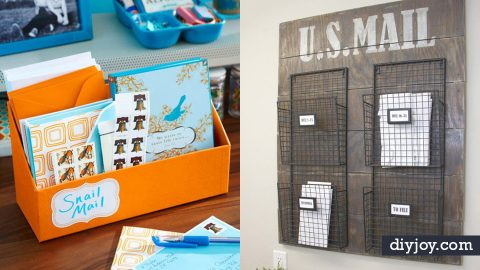 34 DIY Mail Organizers | DIY Joy Projects and Crafts Ideas