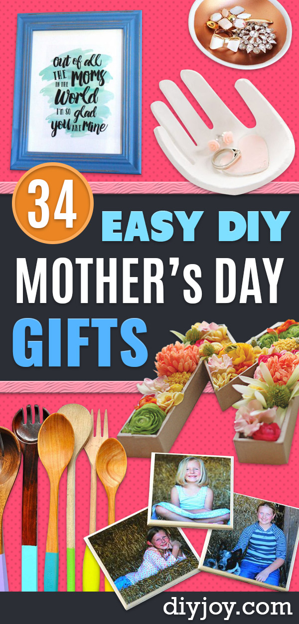 Easy Mothers Day Gifts - Cute Crafts and Homemade Presents for Mom | Thoughtful Gift Ideas to Make For Mother