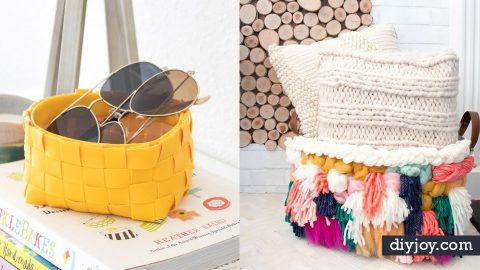 36 DIY Storage Baskets For Organizing Everything | DIY Joy Projects and Crafts Ideas