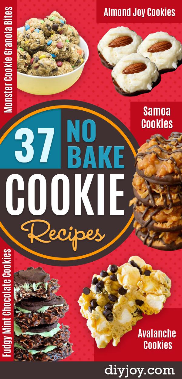 No Bake Cookie Recipes | Easy and Quick Recipe Ideas for Cookies | Oatmeal, Healthy, Gluten free