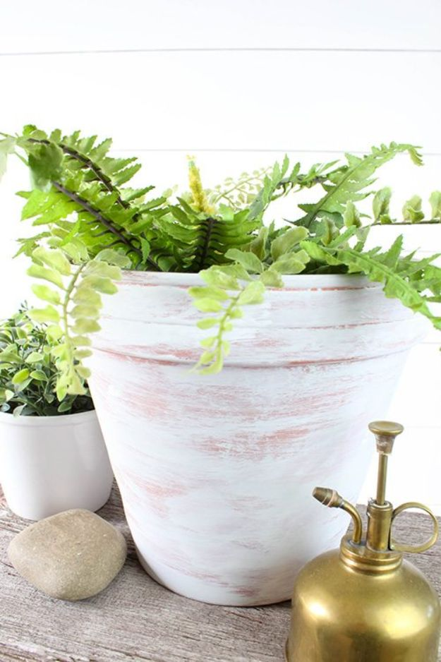 DIY Ideas for Clay Pots - Age Terra Cotta Pots With Paint - Cute Gardening Projects Tutorials for Decorating Pots - Pretty Rustic and Farmhouse Planters for Cheap Home Decor