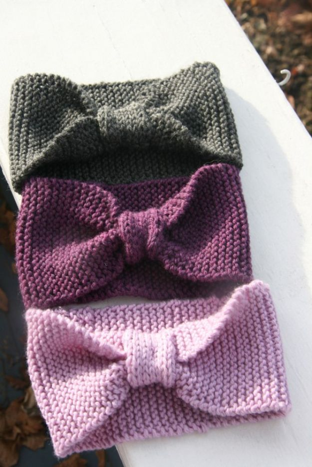 DIY Knitting Ideas for Baby - Baby Headbands – E-Wrap Method - Easy Blanket, Hat, Booties, Toys and Sweater Tutorials to Knit for Babies - Boy and Girl Clothes and Nursery Decor for Gifts
