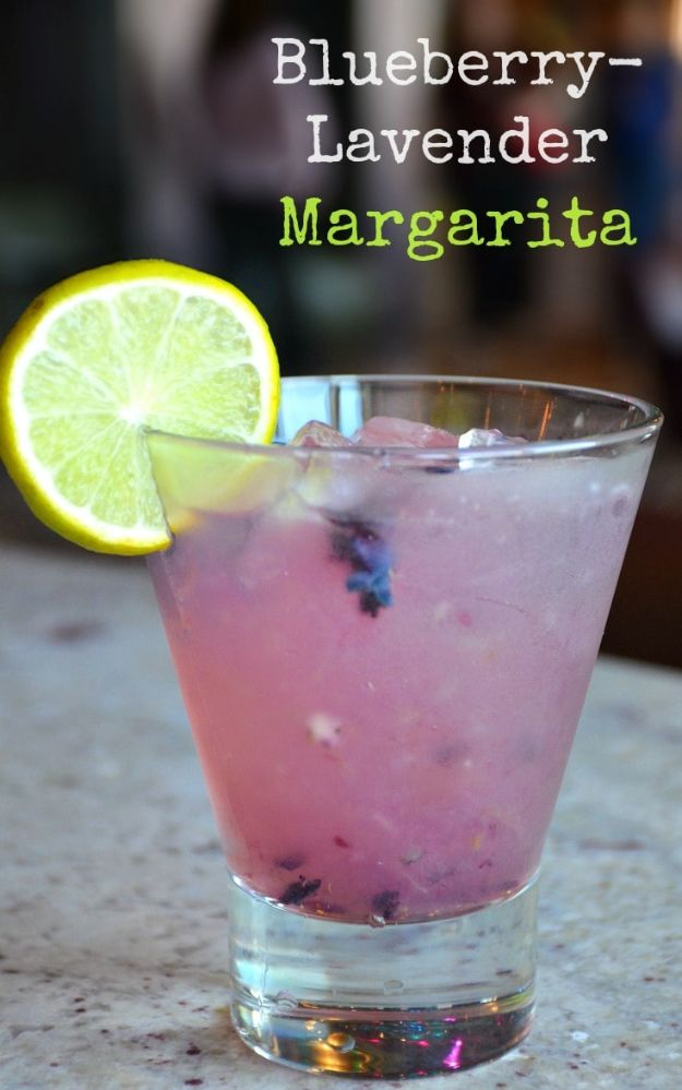 Margarita Recipes - Blueberry-Lavender Margarita - Drink Recipes for a Party - Recipe Ideas for Blender Margaritas - Lime, Strawberry, Fruit | Easy Drinks With Tequila