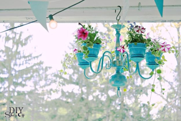 DIY Ideas for Clay Pots - Chandelier Planter Tutorial - Cute Gardening Projects Tutorials for Decorating Pots - Pretty Rustic and Farmhouse Planters for Cheap Home Decor