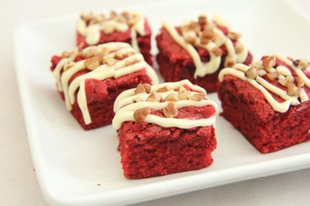 Brownie Recipes | Chewy Red Velvet Brownies - Easy and Healthy Recipe Ideas for Brownies - Chocolate, Blondies, Gluten Free and Caramel