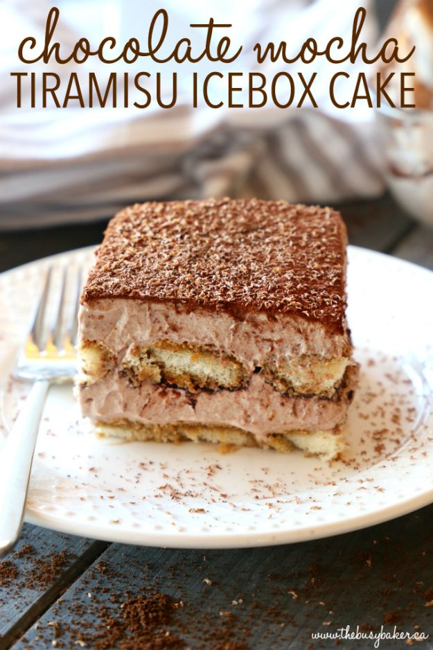 No Bake Desserts | Chocolate Mocha Tiramisu Icebox Cake - Quick Dessert Ideas and Easy Sweets You Can Make Without Baking - Healthy Cookies and Pie