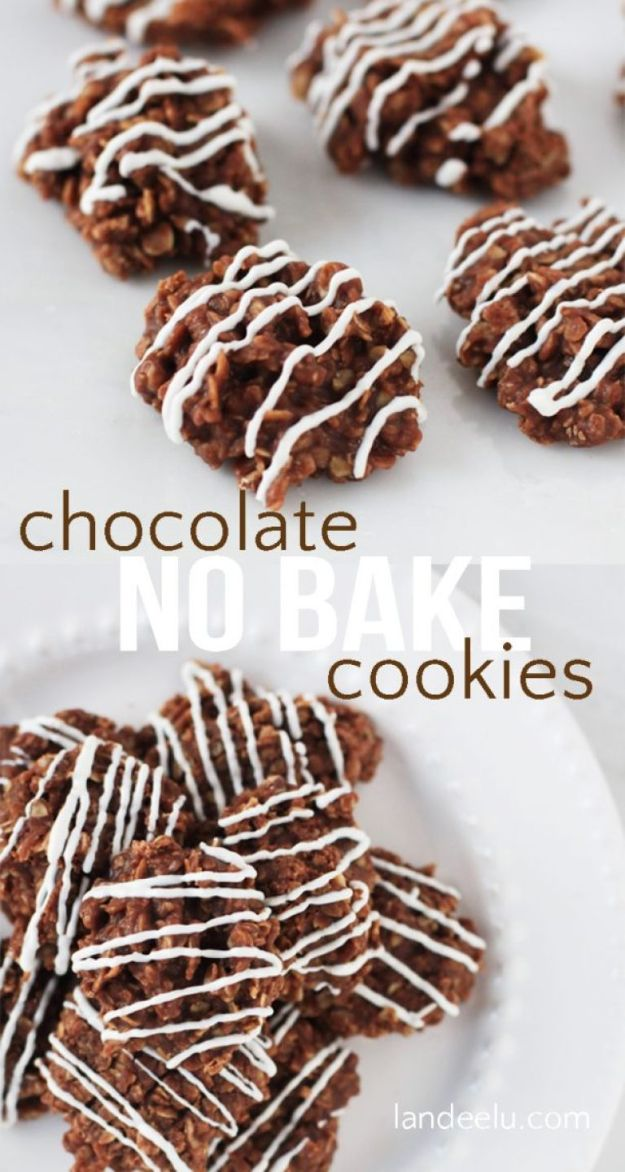 No Bake Cookie Recipes | Chocolate No Bake Cookies - Easy and Quick Recipe Ideas for Cookies | Oatmeal, Healthy, Gluten free