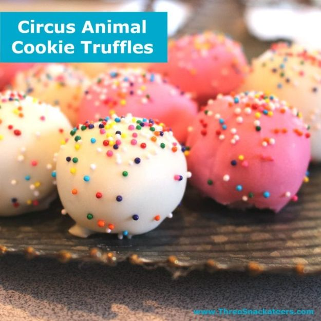 No Bake Cookie Recipes | Circus Animal Cookie Truffles - Easy and Quick Recipe Ideas for Cookies | Oatmeal, Healthy, Gluten free