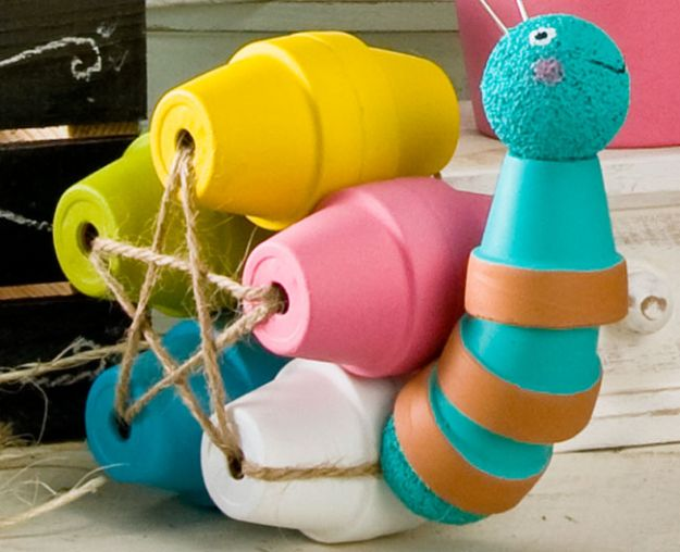 DIY Ideas for Clay Pots - Clay Pot Snail with FolkArt Paint - Cute Gardening Projects Tutorials for Decorating Pots - Pretty Rustic and Farmhouse Planters for Cheap Home Decor