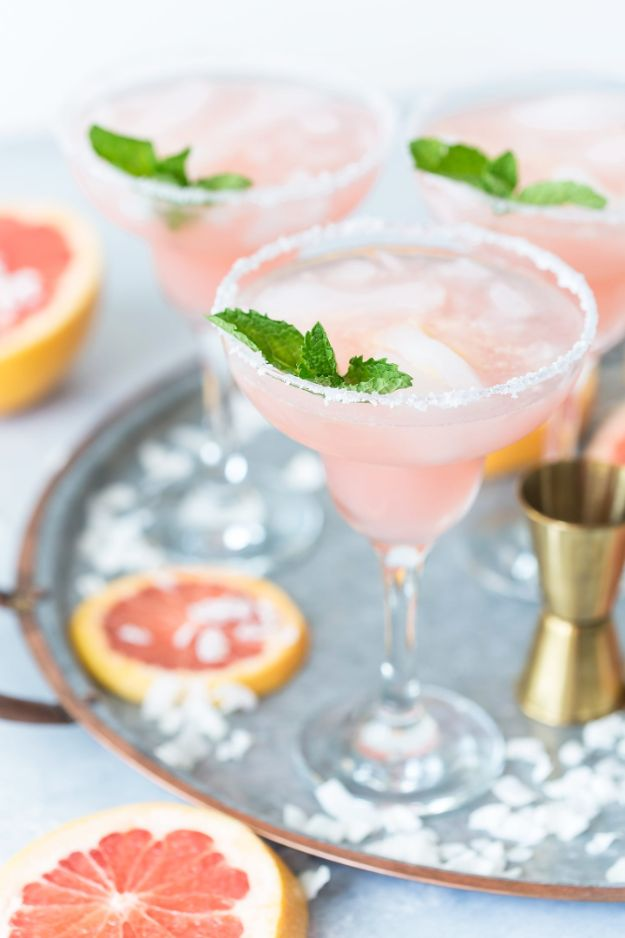 Margarita Recipes - Coconut Grapefruit Margaritas - Drink Recipes for a Party - Recipe Ideas for Blender Margaritas - Lime, Strawberry, Fruit | Easy Drinks With Tequila