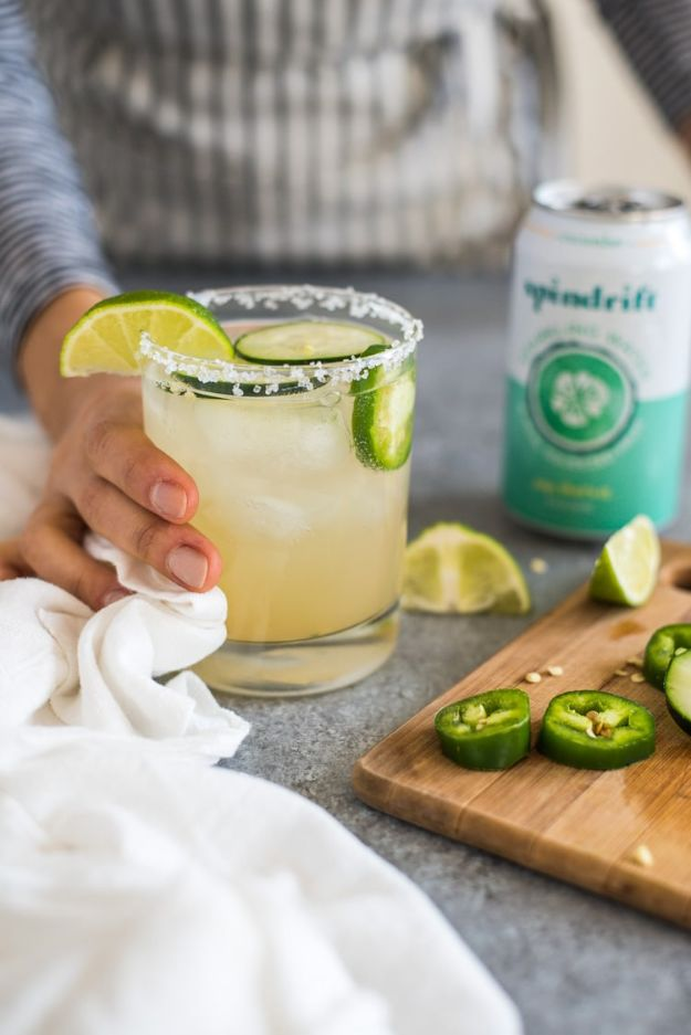 Margarita Recipes - Cucumber Jalapeño Margarita - Drink Recipes for a Party - Recipe Ideas for Blender Margaritas - Lime, Strawberry, Fruit | Easy Drinks With Tequila