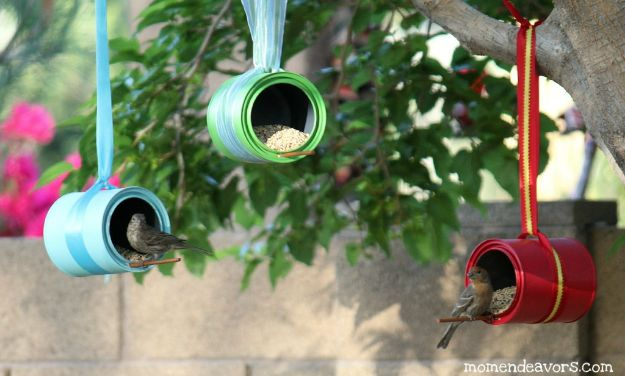 DIY Ideas With Tin Cans - DIY Bird Feeders - Cheap and Easy Organizing Projects and Crafts Made With A Tin Can - Cool Teen Craft Tutorials and Home Decor
