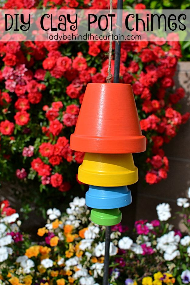 DIY Ideas for Clay Pots - DIY Clay Pot Chimes - Cute Gardening Projects Tutorials for Decorating Pots - Pretty Rustic and Farmhouse Planters for Cheap Home Decor