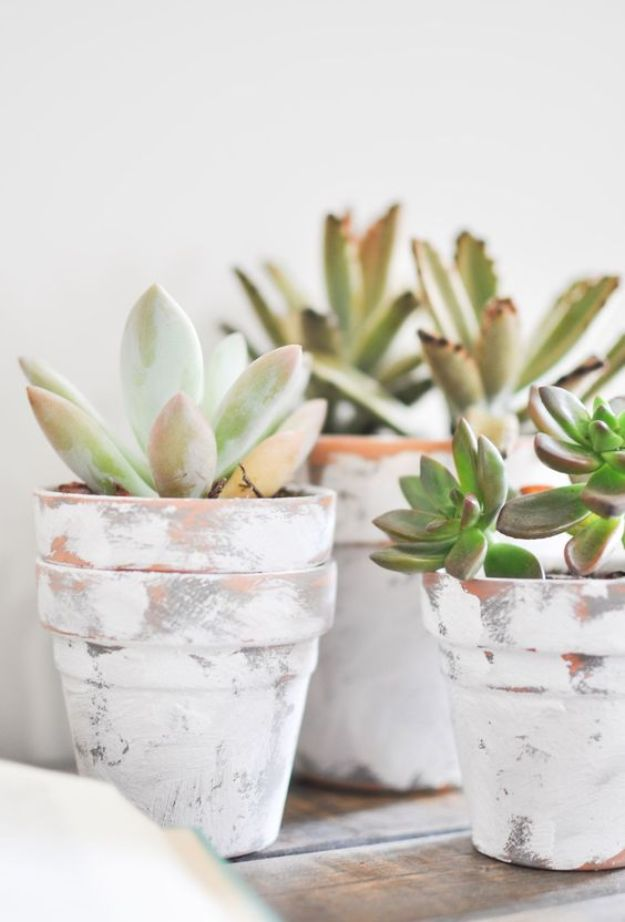 DIY Ideas for Clay Pots - DIY Coastal Terra Cotta Pots - Cute Gardening Projects Tutorials for Decorating Pots - Pretty Rustic and Farmhouse Planters for Cheap Home Decor