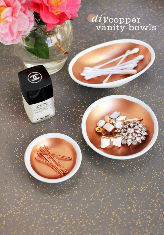 Easy Mothers Day Gifts - DIY Copper Vanity Bowls - Cute Crafts and Homemade Presents for Mom | Thoughtful Gift Ideas to Make For Mother