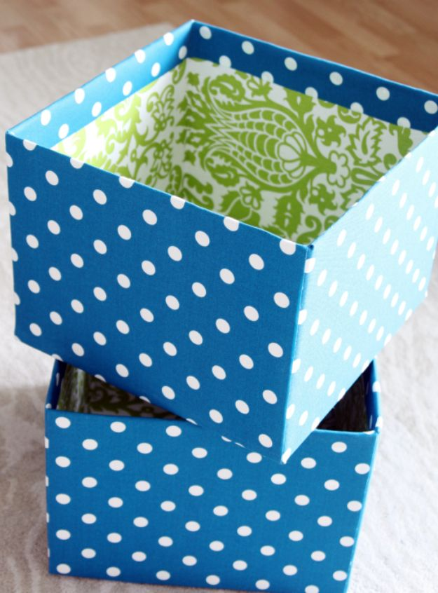 DIY Storage Baskets - DIY Fabric Boxes - Cheap and Easy Ideas for Getting Organized - Creative Home Decor on A Budget - Farmhouse, Modern and Rustic Basket Projects