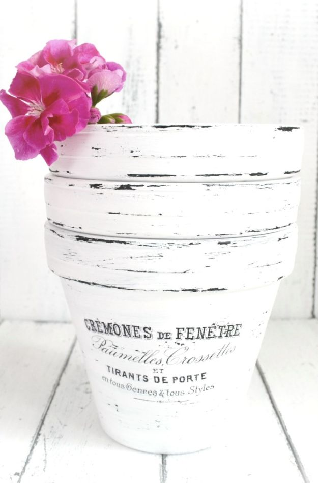 DIY Ideas for Clay Pots - DIY French Made Pots - Cute Gardening Projects Tutorials for Decorating Pots - Pretty Rustic and Farmhouse Planters for Cheap Home Decor