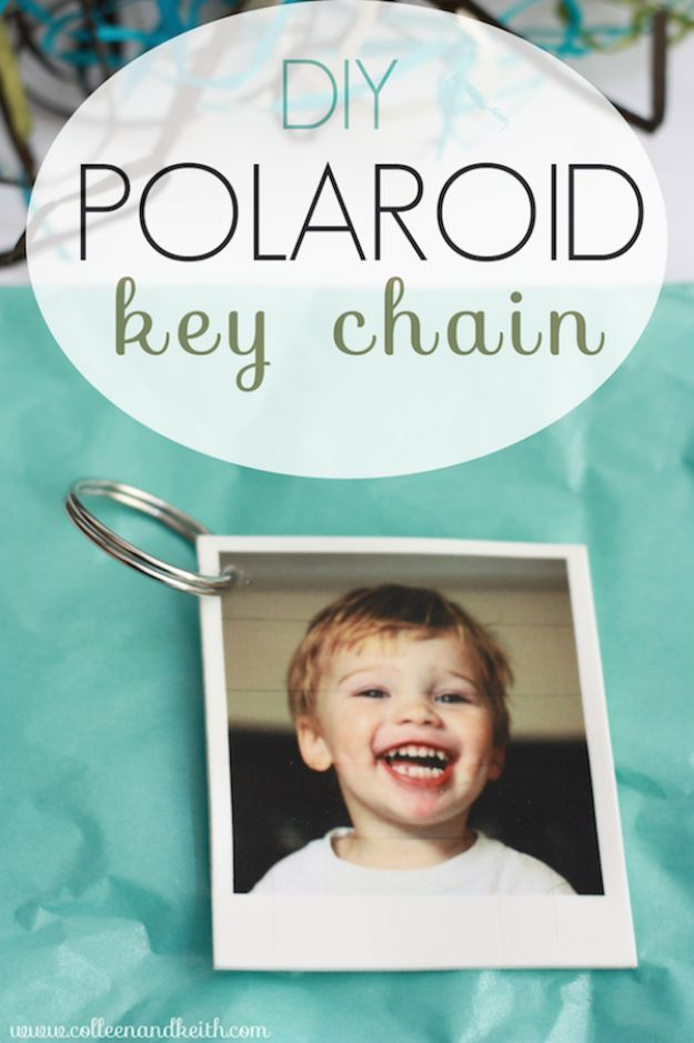 Easy Mothers Day Gifts - DIY Polaroid Key Chain - Cute Crafts and Homemade Presents for Mom | Thoughtful Gift Ideas to Make For Mother