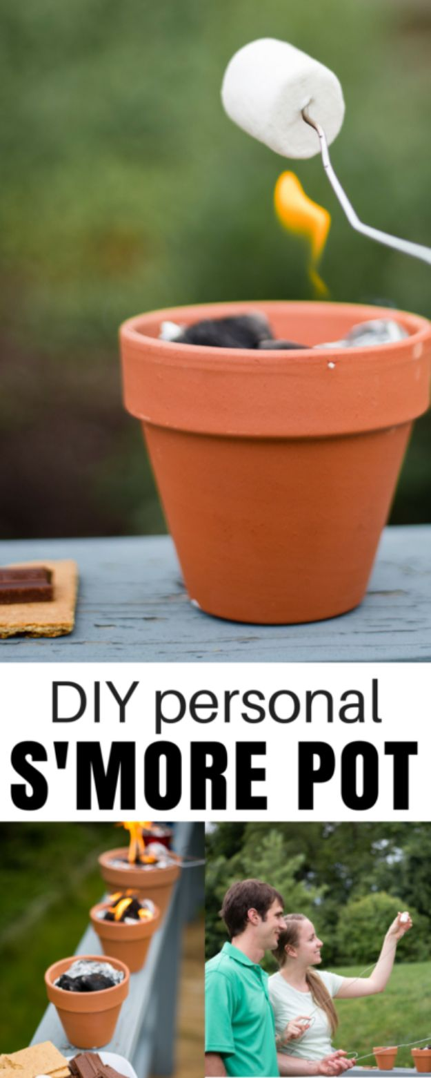 DIY Ideas for Clay Pots - DIY Smores Pot - Cute Gardening Projects Tutorials for Decorating Pots - Pretty Rustic and Farmhouse Planters for Cheap Home Decor