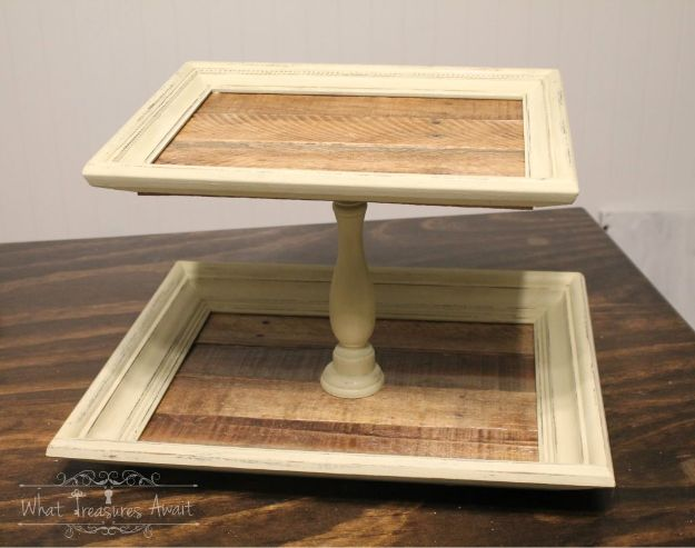 DIY Vanity Trays - DIY Tiered Tray From Frames - Easy Homemade Decor for Bathroom, Bedroom and Vanities - Tray to Store Jewelry and Accessories With These Cool and Easy Crafts