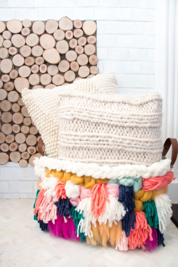 DIY Storage Baskets - DIY Woven Storage Basket - Cheap and Easy Ideas for Getting Organized - Creative Home Decor on A Budget - Farmhouse, Modern and Rustic Basket Projects